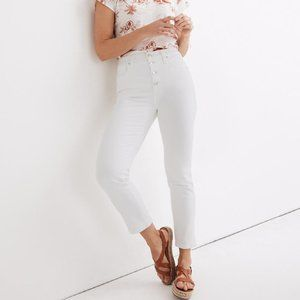 NWT Madewell Stovepipe Jeans in Pure White